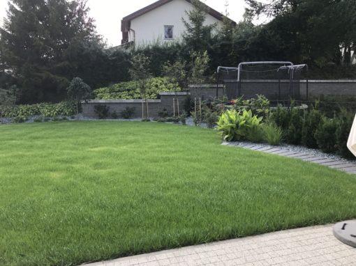 Kiełpin Gdański ogród prywatny