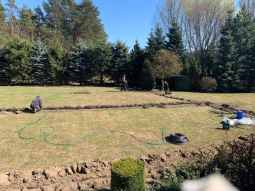 Straszyn- nawodnienie na starym trawniku